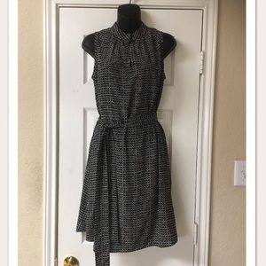 Kate Spade Silk Black & White Shift Dress